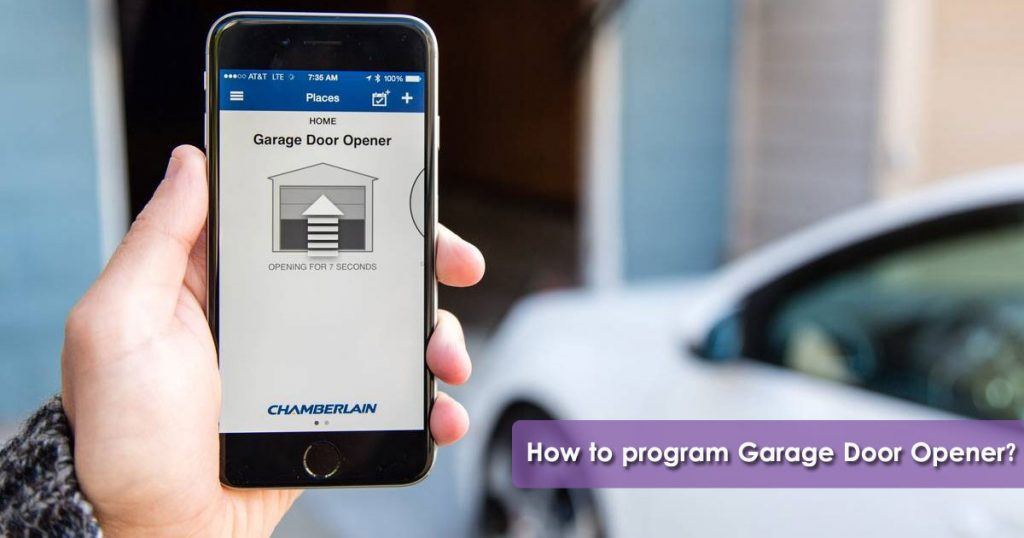 How to program garage door opener image